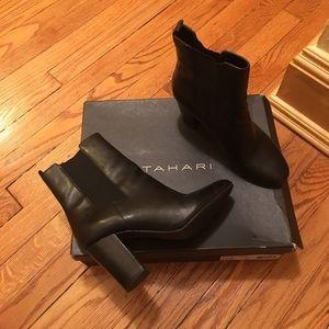 Black Tahari heeled booties
